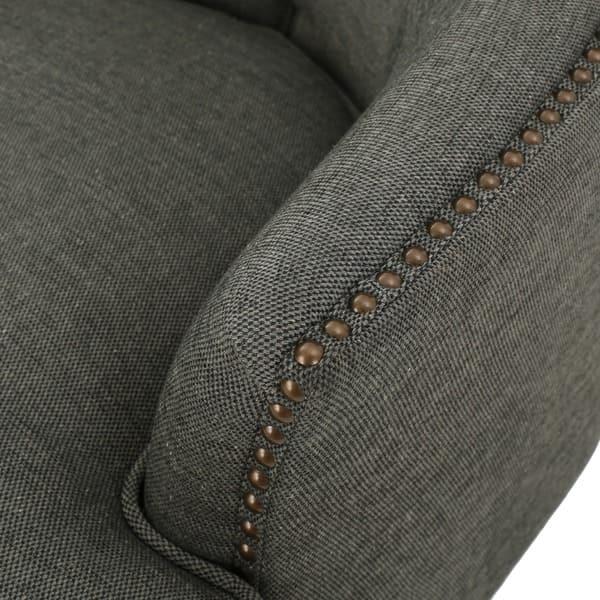 Enjoyable Shop Tafton Tufted Fabric Club Chair With Ottoman By Dailytribune Chair Design For Home Dailytribuneorg