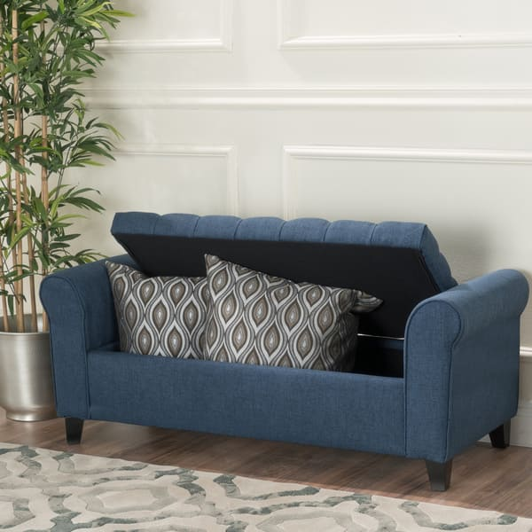 Brilliant Shop Keiko Tufted Fabric Armed Storage Ottoman Bench By Ocoug Best Dining Table And Chair Ideas Images Ocougorg