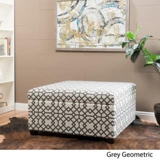 Tempe Geometric Fabric Storage Ottoman by Christopher Knight Home|https://ak1.ostkcdn.com/images/products/13288557/P19998009.jpg?impolicy=medium