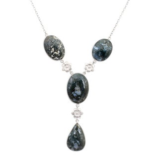 Orchid Jewelry 925 Sterling Silver 124 2/7 Carat Agate Necklace