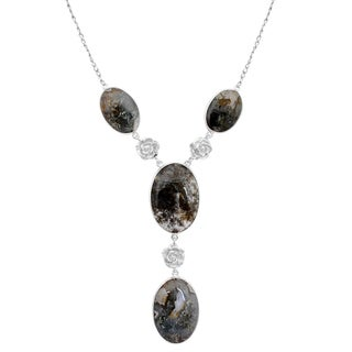 Orchid Jewelry 925 Sterling Silver 119 2/7 Carat Agate Necklace