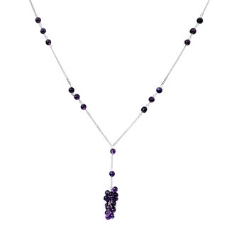 Orchid Jewelry 925 Sterling Silver 20 3/5 Carat Amethyst Necklace