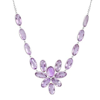 Orchid Jewelry 925 Sterling Silver 118 1/2 Carat Amethyst Necklace