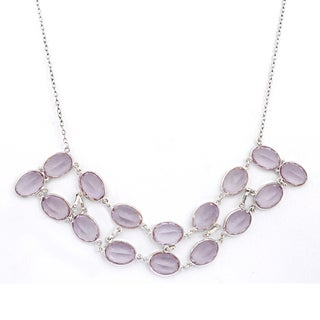 Orchid Jewelry 925 Sterling Silver 181 3/5 Carat Amethyst Necklace