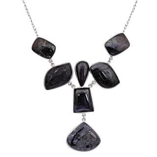 Orchid Jewelry 925 Sterling Silver 218 Carat Sugilite Necklace