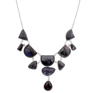 Orchid Jewelry 925 Sterling Silver 255 1/2 Carat Sugilite Necklace