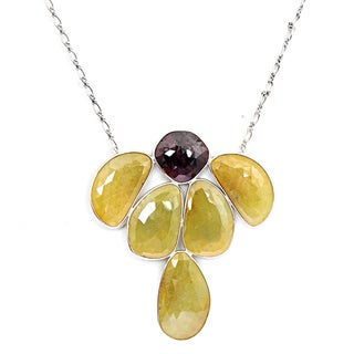 Orchid Jewelry 925 Sterling Silver 177.10 Carat Sapphire Necklace