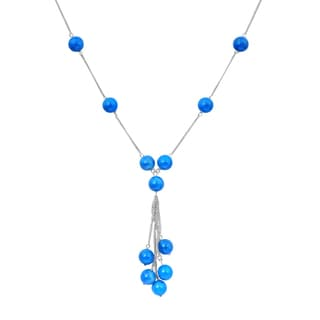 Orchid Jewelry 925 Sterling Silver 64 Carat Turquoise Necklace