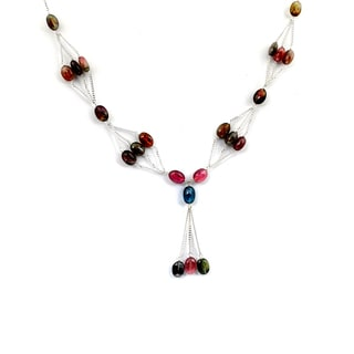 Orchid Jewelry 925 Sterling Silver 36 5/7 Carat Tourmaline Necklace