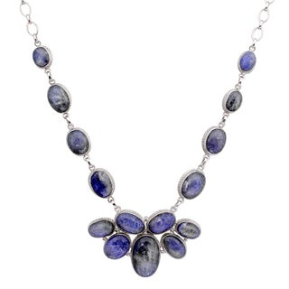 Orchid Jewelry 925 Sterling Silver 229 2/5 Carat Tanzanite Necklace