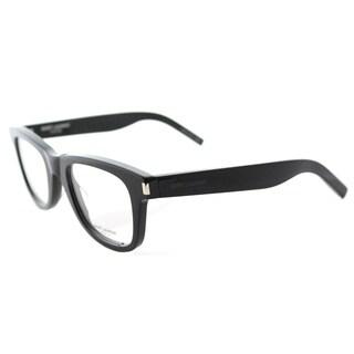Saint Laurent Black Rectangular Eyeglasses (48mm)