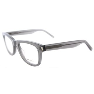 Saint Laurent Clear Grey Rectangular Eyeglasses (48mm)