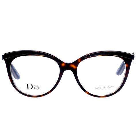 Dior Dark Havana Black Round Eyeglasses (53mm)