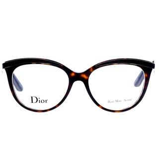 Dior Dark Havana Black Round Eyeglasses (53mm)
