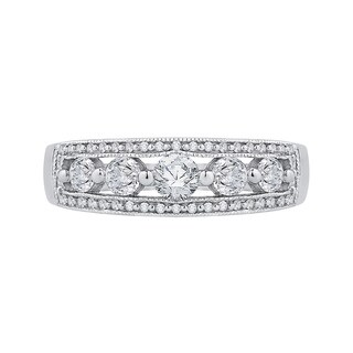 14K White Gold 3/4ct TDW Diamond Wedding Band (G-H, I2)