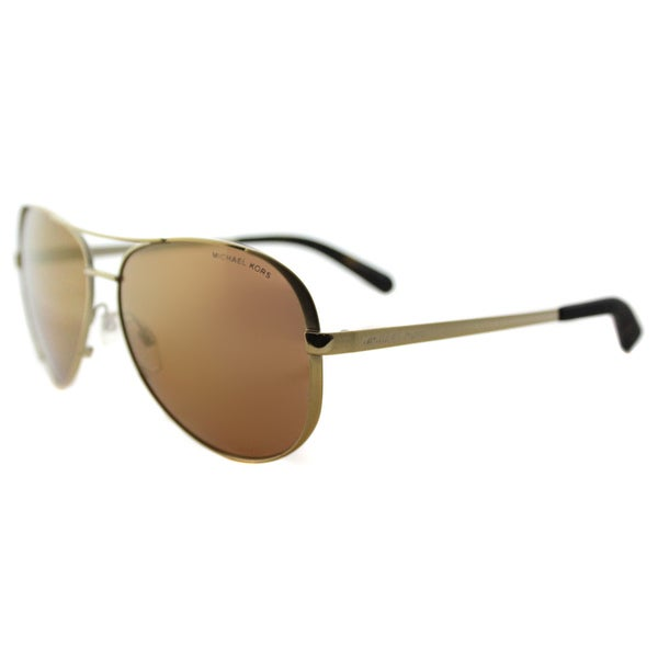 a3837b2785c Michael Kors MK 5004 10042T Chelsea Gold Metal Aviator Gold Mirrored Polarized  Lens Sunglasses