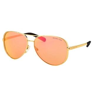 Michael Kors MK 5004 1024F6 Chelsea Gold Metal Aviator Pink Orange Mirror Lens Sunglasses