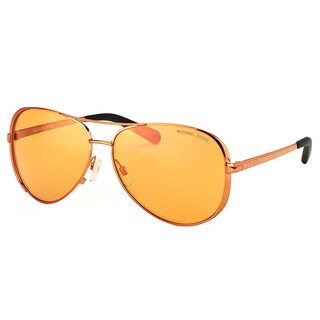 Michael Kors MK 5004 10915N Chelsea Copper Metal Aviator Orange Flash Lens Sunglasses