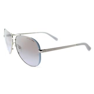 Michael Kors MK 5004 112494 Chelsea Periwinkle Silver Metal Aviator Silver Gradient Mirrored Lens Sunglasses