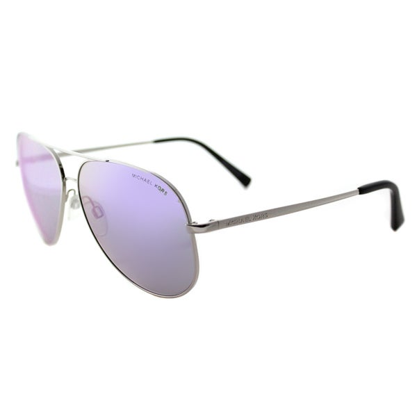d719e5bc9031d Michael Kors MK 5016 10013R Kendall Silver Metal Aviator Purple Mirror Lens  Sunglasses