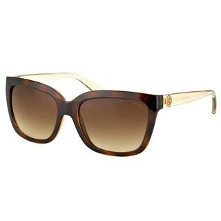 Michael Kors MK 6016 305413 Sandestin Tortoise Smokey Transparent Plastic Square Brown Gradient Lens Sunglasses