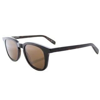 Saint Laurent SL 143 002 Dark Havana Plastic Square Brown Lens Sunglasses