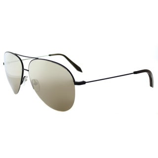 Victoria Beckham VBS 90 C10 Classic Victoria Matte Black Metal Aviator Mirage Mirror Lens Sunglasses