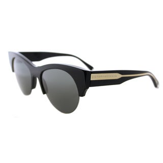 Victoria Beckham VBS 91 C01 Supra Kitten Shiny Black Gold Plastic Cat-Eye Black Mirror Lens Sunglasses