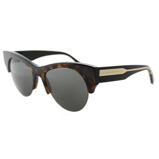 Victoria Beckham VBS 91 C07 Supra Kitten Amber Tortoise Gold Plastic Cat-Eye Black Lens Sunglasses