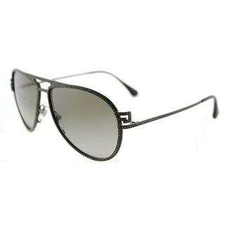 Versace VE 2171B 13928E Greca Stars Matte Military Green Metal Aviator Green Gradient Lens 62mm Sunglasses