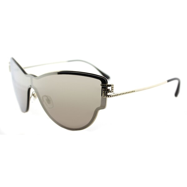 1dd43d51741b Versace VE 2172B 12525A Embellished Pale Gold Metal Cat-Eye Gold Mirror  Lens Sunglasses