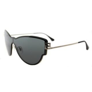 Versace VE 2172B 125287 Embellished Pale Gold Metal Cat-Eye Grey Lens Sunglasses