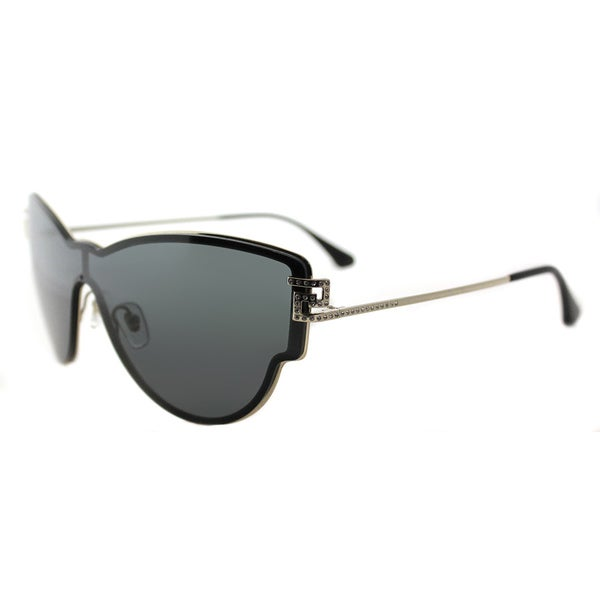 804c4e5c7518 Versace VE 2172B 125287 Embellished Pale Gold Metal Cat-Eye Grey Lens  Sunglasses