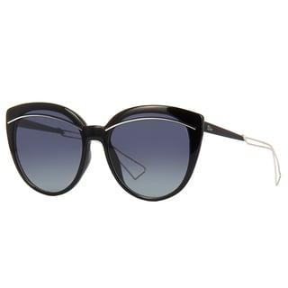Dior Diorliner RMG HD Black Palladium Plastic Cat-Eye Grey Gradient Lens Sunglasses
