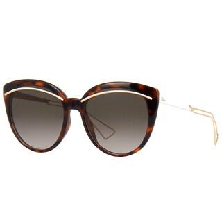Dior Diorliner UGM HA Havana Rose Gold Plastic Cat-Eye Brown Gradient Lens Sunglasses