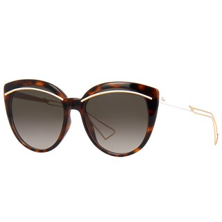 Dior Diorliner UGM HA Havana Rose Gold Plastic Cat-Eye Brown Gradient Lens Sunglasses