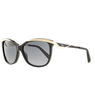 Dior Dior Metaleyes 2/S C7V HD Black Rose Gold Plastic Cat-Eye Grey Gradient Lens Sunglasses