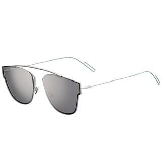 Dior Dior 0204/S 011_DC Matte Palladium Metal Round Silver Mirror Lens Sunglasses