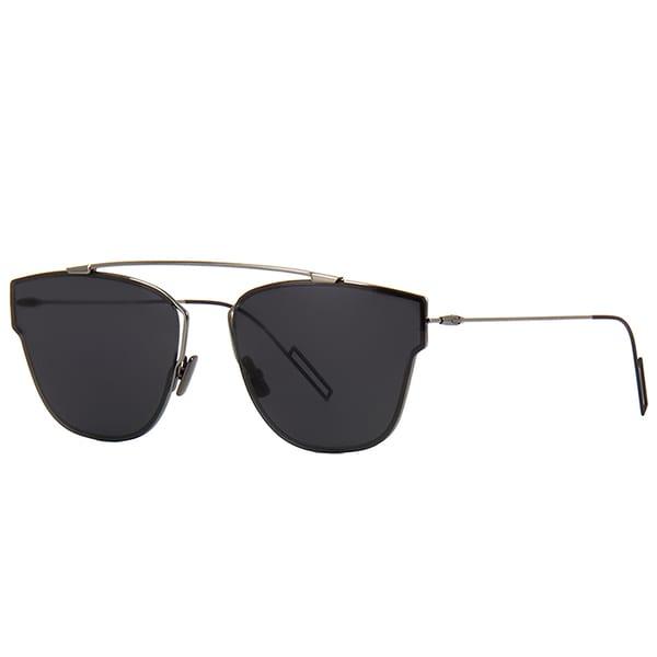 f8e81296cfef Shop Dior Dior 0204 S KJ1 3U Dark Ruthenium Metal Round Blue Mirror Lens  Sunglasses - Free Shipping Today - Overstock - 13290108