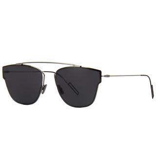 Dior Dior 0204/S KJ1_3U Dark Ruthenium Metal Round Blue Mirror Lens Sunglasses