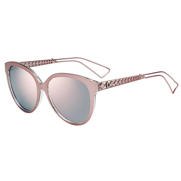 5564e004f1e3 Shop Dior Diorama 1/S TGW 0J Pink Crystal Metal Square Rose Gold Mirror  Lens Sunglasses - Free Shipping Today - Overstock - 13290109