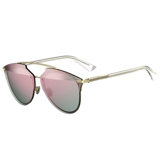 Dior Dior Reflected Prisim/S S5Z RG Gold Crystal Metal Aviator Rose Gold Prism Mirror Lens Sunglasses
