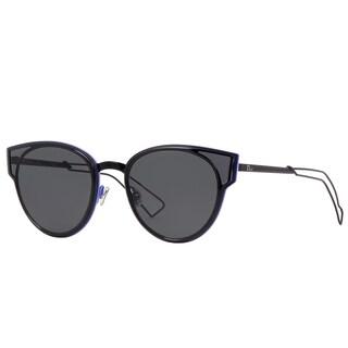 Dior Sculpt/S 006 P9 Shiny Black Metal Cat-Eye Grey Lens Sunglasses