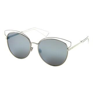 Dior Dior Sideral 2/S JA6 T7 Aqua Metal Round Blue Mirror Lens Sunglasses