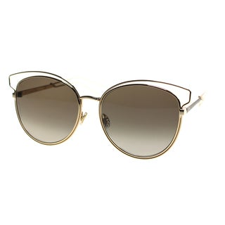 Dior Dior Sideral 2/S JB2 HA Rose Gold Brown Metal Round Brown Gradient Lens Sunglasses