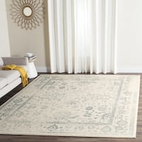 Safavieh Adirondack Dakota Ivory / Slate Grey Distressed Rug - 11' x 15'