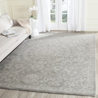 Safavieh Bella Contemporary Handmade Grey/ Silver Wool Rug (11' x 15')