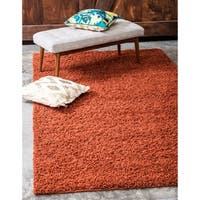 Unique Loom Solid Shag Area Rug - 6' x 9'