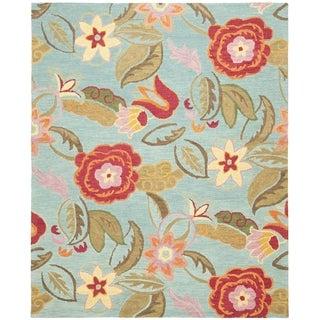 Safavieh Blossom Handmade Floral Blue/ Multi Wool Rug (11' x 15')