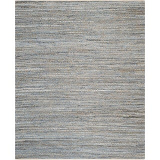 Safavieh Cape Cod Contemporary Handmade Natural/ Blue Cotton Rug (11' x 15')